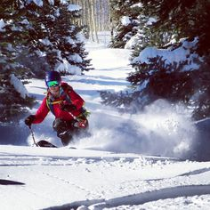 Brittany enjoys fast pow turns near McClure Pass while testing the new @blackdiamond Helio 105's earlier this month!  #ski #skiing #14erskiers #skicolorado #iskicolorado #bcskicolorado #backcountry #backcountryskiing @backcountryaccess @intuitionliners @girosnow