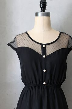 PETIT DEJEUNER in Black  Vintage inspired by FleetCollection, $48.00
