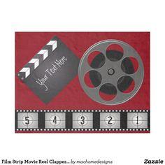 Film Strip Movie Reel Clapperboard Fleece Blanket