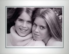 Princesses Eugenie and Beatrice of York.