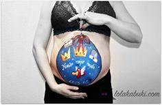 BELLY AMAYA #Pintura artística en el #embarazo. #Belly #paint