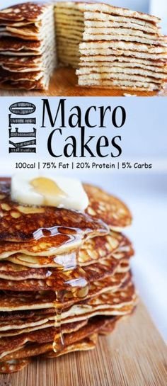 The perfect food(pancakes) now has the perfect keto macros! Try these incredible Keto Macro Cakes and you'll feel like you're cheating and all the while you Ketogenic Recipes, Low Carb Recipes, Diet Recipes, Bariatric Recipes, Sausage Recipes, Recipes Dinner, Recipies, Diet Desserts, Keto Pancakes
