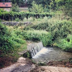 Waterfall into the river in Carpinone
