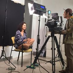 @catamari in front of the camera and #ikan #LED #lights for a commercial on an art exhibition in Guam. #film life #TV #setlife #art #commercial
