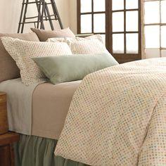 #PineConeHill Watercolor Dots Duvet Cover Bedding Idea for Guest Bedroom