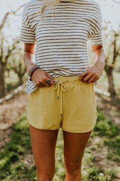Sun Shy Shorts in Gold | ROOLEE