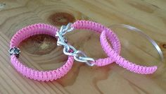 "Set of 3 ""Royal Princess"" Bubblelicious Pink Arm Candy Bangle Bracelets by KashmereCouture on Etsy"