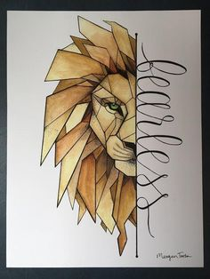 Lion Print Drawing Tips lion drawing Geometric Drawing, Geometric Art, Geometric Lion Tattoo, Art Drawings Sketches Simple, Pencil Art Drawings, Hard Drawings, Cool Simple Drawings, Creative Drawing Ideas, Cool Sketches