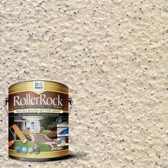 Self-Priming Ivory Exterior Concrete Coating concrete sidewalk DAICH RollerRock 1 gal. Self-Priming Pebblestone Exterior Concrete - The Home Depot