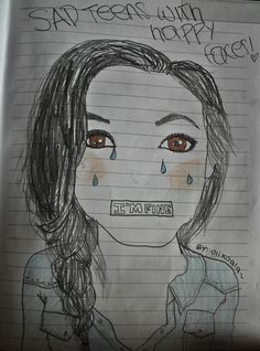 Sad teens with happy faces :'cc