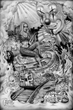 "Bucket list- get a Me Cartoon tattoo one day!  mr cartoon mural"""