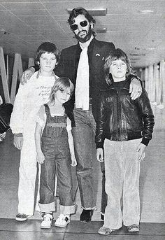 Ringo and his children, Zak, Lee and Jason