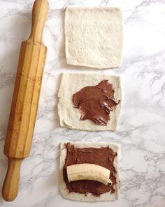 Mi Gran Diversión: Torrijas de plátano y nutella ( French Toast Roll-Ups)