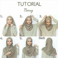 Tutorial for hijabers – Hijab Fashion 2020 Tutorial Hijab Pashmina, Square Hijab Tutorial, Simple Hijab Tutorial, Hijab Style Tutorial, Hijab Casual, Hijab Fashion Casual, Hijab Chic, Muslim Fashion, Abaya Fashion