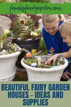 You want to do something that is fun for both kids and adults check out Family Food & Garden's guide to build a beautiful fairy garden house. Included are many ideas to follow and supplies you can purchase to make it all happen. It will be just as fun to create and decorate this magical space as it will be when it is ready. Find out where to buy furniture, plants and other items that will enhance your fairy garden house. Enjoy this project. Read more... #fairygardenhouse #gardenhouse #fairy Fairy Garden Doors, Fairy Garden Supplies, Fairy Garden Houses, Healthy Fruits And Vegetables, Beautiful Fairies, Family Meals, Something To Do, Home And Garden, Herbs