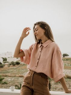 European Summer is calling. Pair it with our French linen Ruby Shirt in Wildflower Pink for the ultimate look European Summer is calling. Pair it with our French linen Ruby Shirt in Wildflower Pink for the ultimate look White Outfits For Women, Clothes For Women, Mode Outfits, Fashion Outfits, Fashion Ideas, Fashion Tips, Modest Fashion, Fashion Trends, Summer Outfits