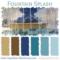 Fountain Splash Color Scheme inspired by Bluishmuse