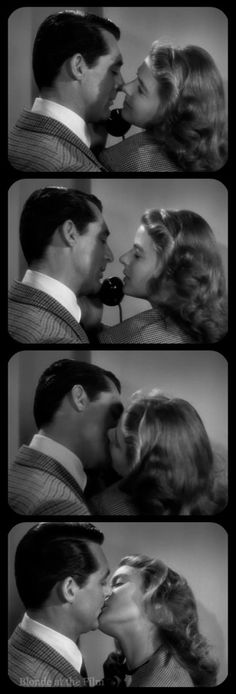 Notorious: Cary Grant and Ingrid Bergman THE BEST KISS IN ANY MOVIE!!!!