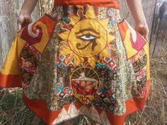 Egyptian Style Grateful Dead Patchwork by AramintaMuscaria on Etsy