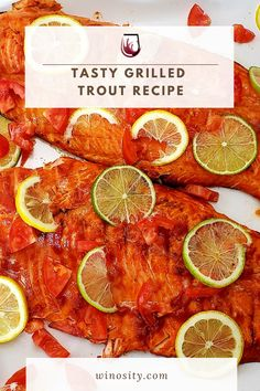 Bored of the same homemade marinade for a grilled fish recipe? Try this grilled trout with a zesty lemon marinade for a perfect lunch and dinner recipe. Savor this delicious fish recipe with a bottle of white wine for a great family meal. #recipeswithfish #fishandseafoodrecipes #familymealrecipe #fishfilletsrecipe #foodandwinerecipes #pairingwineandfood Best Fish Recipes, Trout Recipes, Lunch Recipes, Seafood Recipes, Wine Recipes, Easy Dinner Recipes, Dinner Ideas, Keto Recipes, Healthy Recipes