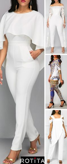 Dreaming Loud, features the ultimate jumpsuit guide that you'll love. Look Fashion, Girl Fashion, Fashion Outfits, Womens Fashion, Vetement Fashion, African Fashion Dresses, White Outfits, Jumpsuits For Women, Dress To Impress