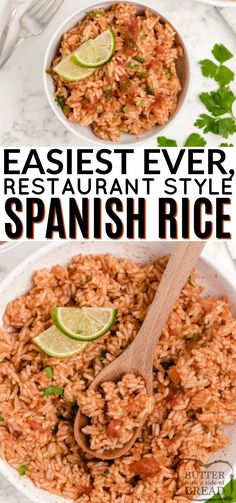 Easy Spanish Rice made on the stove with only a few simple ingredients. Tastes just like Spanish rice from your favorite Mexican restaurant! Using salsa in the recipe makes this recipe one of the easiest Mexican rice recipes ever!