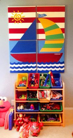 Sail Boat Paintings for Kids Room https://www.facebook.com/signsbytiffany