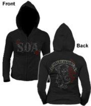 Sons Of Anarchy Reaper Roses Womens Hoodie