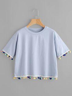 a476a5752fd60 Camiseta con diseño de bolas Blusas Camisas
