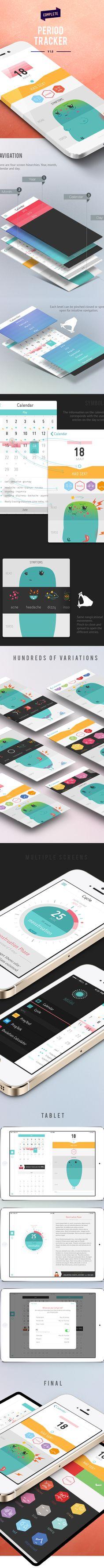 Period Tracker - iPhone App on Behance