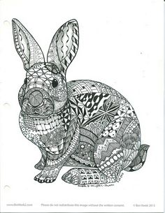 Ornamental_Rabbit1 | Flickr - Photo Sharing! ****This rabbit template was created by a fello named Ben Kwok on Facebook who formed a group call Ornamental Animals and several members in this group tangled his rabbit string. Tangle design by Andrea Shuman