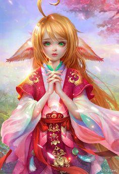 狐妖小红娘  The lastest paiting of Xiao Rou