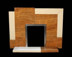 VERY RARE ART DECO ASYMMETRIC FIRE SURROUND - UK Architectural Heritage