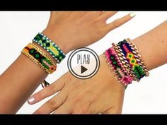 P.S.- I made this...Friendship Chain Bracelet How-To Video: http://youtu.be/rlYZHnSYsAE