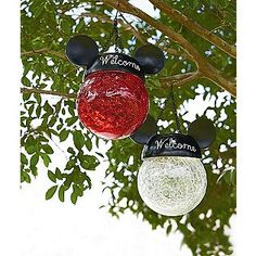 kmart - Disney -Red Hanging Solar Light with Mickey Ears
