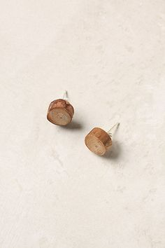 tree ring earrings