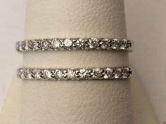 White Gold Solitaire Enhancer Ring Guard Wrap (0.50ct. tw)- RG331477644229