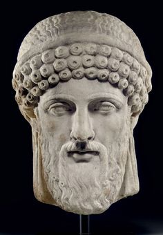 A Roman marble archaistic head of Dionysos, Circa century A. Ancient Rome, Ancient Greece, Ancient Art, Roman Sculpture, Sculpture Art, Roman Artifacts, Roman Gods, Greek Statues, Chef D Oeuvre