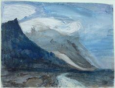 John Ruskin, Moonlight, Chamonix (1866)