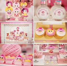 Pink & Yellow Lalaloopsy Dessert Table by Mariana Sperb Party & Design! http://hwtm.me/Y5iHo6