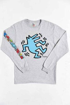 Junk Food Keith Haring Wolf Long-Sleeve Tee - Urban Outfitters b2d6203789003