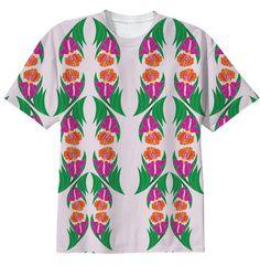 Iris Garden Cotton T-Shirt