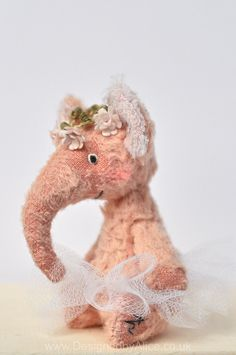 Peach Ballerina Elephant | little beings | Designed by Alice