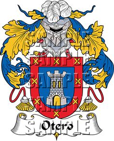 Otero Family Crest apparel, Otero Coat of Arms gifts