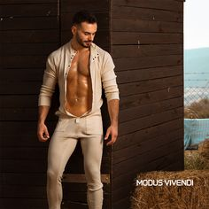 Amazingly comfortable and startlingly confident, this loungewear feels great against the skin. Mens Onesie, Union Suit, Mens Tights, Long Underwear, Awesome Beards, Clothing Sites, Manish, Hairy Men, Style Men