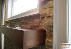 Fireplace/wall covered with Realstone Systems Sierra Shadowstone