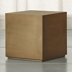 Patina Brass CubeCrate and Barrel... 4 for square table