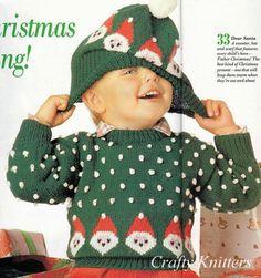 Children's Christmas Jumper & Hat Knitting Pattern