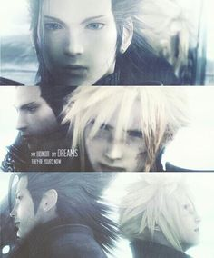 Cloud Strife and Zack Fair. Cloud Strife and Zack Fair. Final Fantasy Quotes, Final Fantasy Series, Final Fantasy Crisis Core, Final Fantasy Collection, Final Fantasy Cloud, Final Fantasy Characters, Cloud And Tifa, Game Costumes, Finals