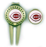 Cincinnati Reds Hat Clip Marker & Divot Tool by Waggle Pro Shop. $18.79. Great gift idea for golfers. Show your team pride with a MLB team hat clip and divot tool. Quartersize, magnetic, interchangeable team logo disk. Mark your ball location with a hat clip ball marker or divot tool. Clean grass off your cleats as well as repair divots. Show your team pride and spirit while you golf by using a Cincinnati Reds magnetic hat clip and divot tool. Our professional baseball team hat c...